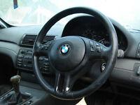 bmw e46 320td steering wheel leather