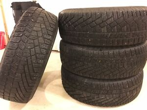 Set of 4 used Continental Extreme Winter Contact tires St. John's Newfoundland image 1