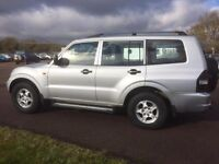 MITSUBISHI SHOGUN 3.2-D LEATHER DIESEL AUTOMATIC 7 SEATER 1 OWNER CAR SERVICE HISTORY