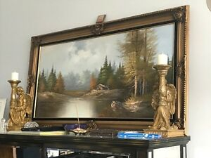 super nice oil painting , real artist...1970 or so