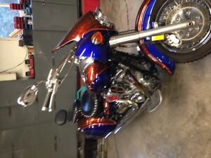 Road Star tins with custom paint, bags and fairing $1200 OBO