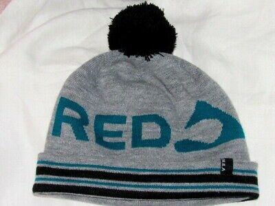 22b4745ae78 RED MOUNTAIN BC Canada BULA SKI Winter Beanie Hat Toque GRAY GREEN BLACK  LARGE