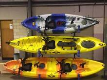 Fishing Kayak Single Sit-On 3M 5 Rod Holders Padded Deluxe Seat Ingleburn Campbelltown Area Preview
