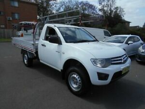 2014 Mitsubishi Triton MN MY14 Update GLX White 4 Speed Automatic Cab Chassis Bankstown Bankstown Area Preview