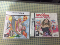 Nintendo DS 3 games (Cooking Mama,Imagine Fashion Designer and Bunnyz)