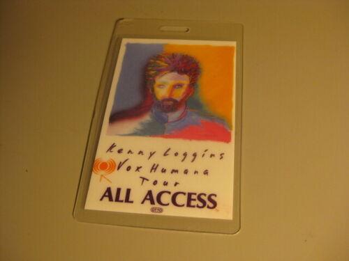 Vintage KENNY LOGGINS Vox Humana Tour All Access BACKSTAGE PASS