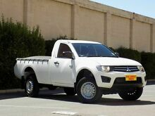 2009 Mitsubishi Triton MN MY10 GLX White 5 Speed Manual Cab Chassis Blair Athol Port Adelaide Area Preview