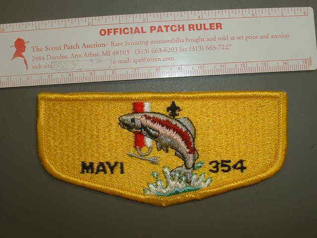 Boy Scout OA 354 Mayi flap 1460K
