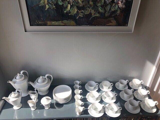 Fürstenberg, Empire, Service, Porzellan, weiß, Kaffee-, Tee-, Espresso, 46 Teile