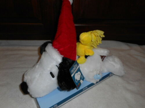 "Peanuts Musical Christmas Animated Snoopy & Woodstock 15"" Plush ~ NEW!"
