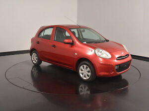 2014 Nissan Micra K13 MY13 ST Burgundy 5 Speed Manual Hatchback Welshpool Canning Area Preview