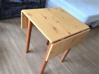 Dining Table - Pine fold down extendable - good condition - for collection
