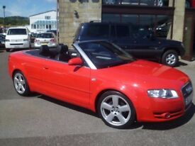 AUDI A4 S LINE CABRIOLET WITH FULL BLACK LEATHER AND SERVICE HISTORY