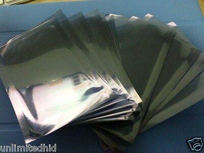 10 X Aluminium Semi-transparent Anti Static Bag 4 38 X 2 34 Small Size