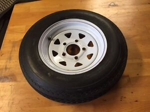 Utility Tailer Tire and Rim