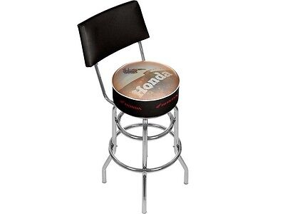 Honda Power Sport Padded Swivel Bar Stool With Back