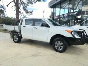 2015 Mazda BT-50 MY13 XT (4x4) White 6 Speed Manual Dual Cab Chassis
