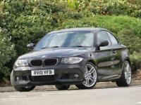 2010 BMW 123d auto d M Sport COUPE, FULL BLACK LEATHER 8 STAMPS HISTORY