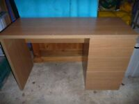 Ikea Malm Oak Desk / Dressing Table