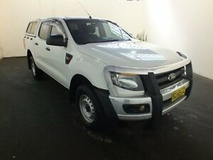 2013 Ford Ranger PX XL 2.2 (4x4) White 6 Speed Manual Crewcab Clemton Park Canterbury Area Preview
