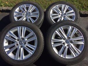 4 mags d'origine + 4 pneus d'hiver Michelin pour Lexus ou Toyota