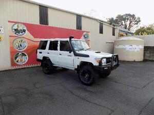 2010 Toyota Landcruiser VDJ76R 09 Upgrade Workmate (4x4) White 5 Speed Manual Wagon West Gosford Gosford Area Preview