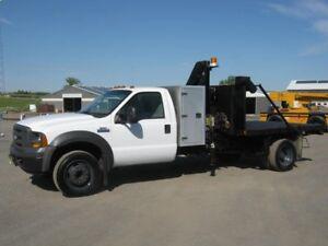 2004, Ford F550 Boom/ Dump Truck