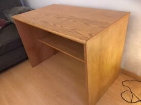 Wooden corner table/desk (38x38) and matching straight table (40x23½)