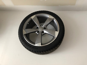 "Audi 18"" rims and winter tires"