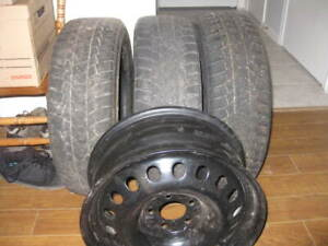 Toyota Snow Tires and Rims - Selling For 65 - 195X65x15