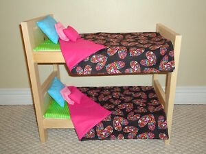 Solid Wood Doll Bunk Beds - Complete sets