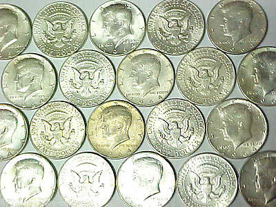 Roll of 20 1964 Kennedy Silver Half Dollars $10 Face Value 90% Silver Coins (tn)