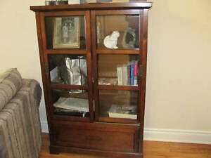 STORAGE, DINING, BOOKCASE, DISPLAY CABINET $280.