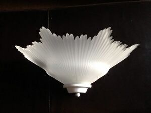 Beautiful glass wall sconce for sale