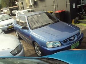 2002 Hyundai Accent LC GL Blue 4 Speed Automatic Hatchback Punchbowl Canterbury Area Preview