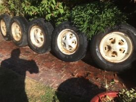 5 Land Rover Steel wheels and Tyres from 1996 Defender