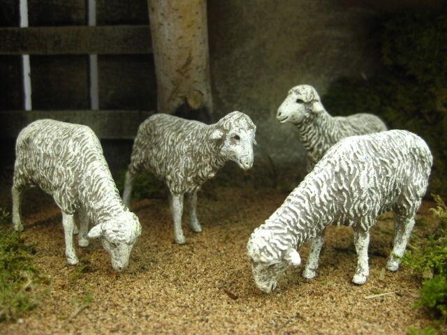 Nativity Scene Sheep Figurines Landi Presepio Animales Pesebre Ovejas Belenes