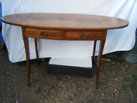 A Mahogany Desk, Sofa Table, Reproduction 2 Drawers Only £55.00