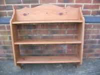 A Pine Wooden Shelving Unit (Item B)