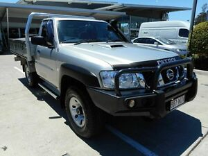 2012 Nissan Patrol Y61 GU 6 SII MY13 DX Silver 5 Speed Manual Cab Chassis Yamanto Ipswich City Preview