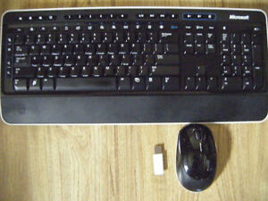 Microsoft cordless keyboard and mouse for sale