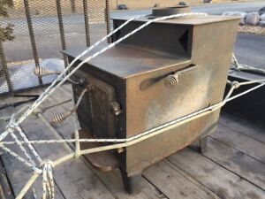 Pot Belly wood stove - old