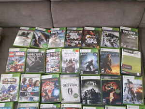 Lot Xbox 360 320GB, 3 controllers, 56 games with Kinect