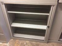 1m tall Bisley tambour storage unit with key