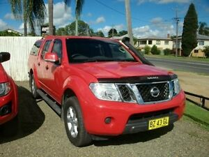 2014 Nissan Navara D40 S6 MY12 ST Flame Red 6 Speed Manual Utility South Grafton Clarence Valley Preview