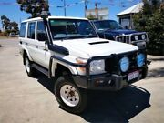 2012 Toyota Landcruiser VDJ76R 09 Upgrade Workmate (4x4) White 5 Speed Manual Wagon Cannington Canning Area Preview