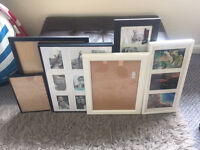 7x picture frames, various sizes