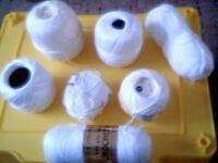 large bag of brand new white crochet cotton