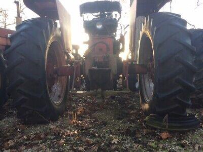 2 16.9 X 38 Tractor Power Grip Tires 33 Tread Ih 656 560 706 806 756 Bevl Rims