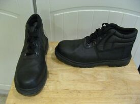 Mens steel toe safety boots